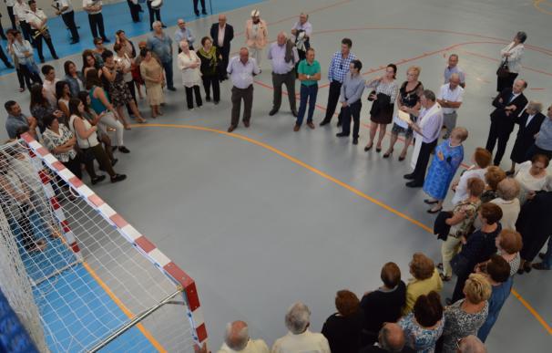 Los vecinos de Chodes inauguran su nuevo pabellón polideportivo