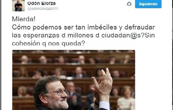 """Odón Elorza sobre el cisma en el PSOE: """"Mierda ¿cómo podemos ser tan imbéciles?"""""""