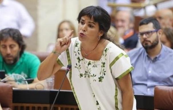 """Teresa Rodríguez: """"Que no se atrevan a dar lecciones quienes intentan dar un golpe de estado en su propio partido"""""""