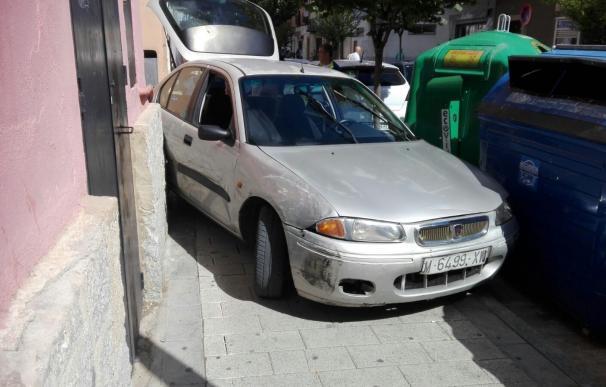 Una persecución de Guardia Civil se salda con conductor detenido tras estrellar su coche en centro de Cuenca