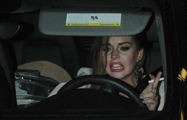 Lindsay Lohan, herida en una pierna tras una pelea con su madre