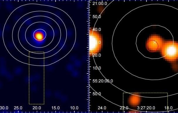 Fuentes de radio no identificadas se atribuyen a galaxias oscurecidas