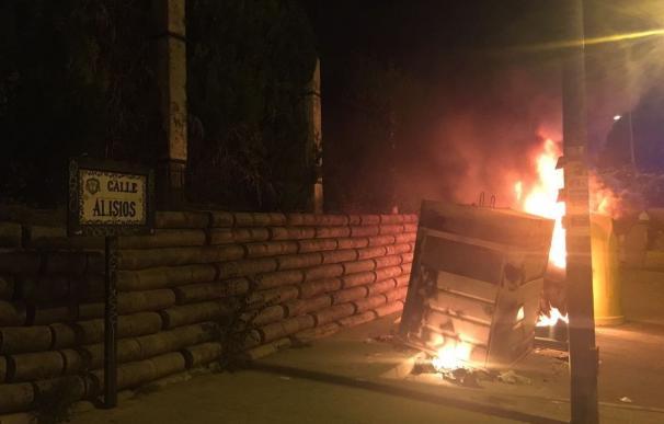 Identificado en Mairena del Aljarafe el presunto autor de la quema de un contenedor de basura