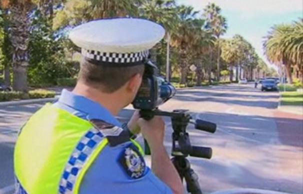 Radar manual de la policía australiana