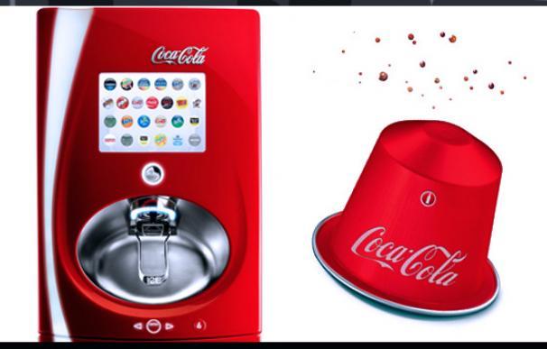Recreación de la posible apariencia de las cápsulas Coca Cola