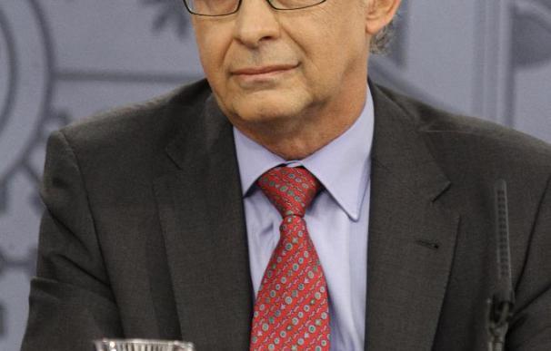 El ministro de Hacienda, Cristóbal Montoro, durante la explicación de los Presupuestos de 2013.