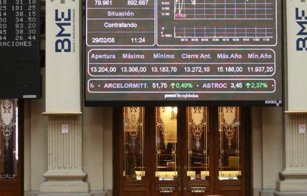 La bolsa española baja el 0,12 por ciento por el retroceso de bancos y grandes valores