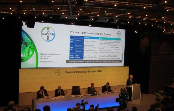 AMP.- Bayer sortea con éxito la crisis y gana 2.470 millones en 2011, un 89,9% más
