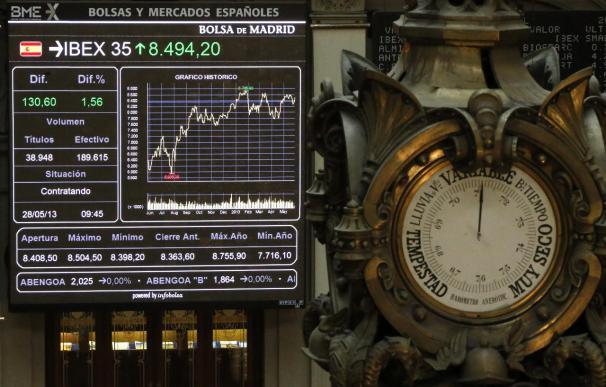 La bolsa española cierra prácticamente plana y el IBEX 35 baja un 0,10 por ciento