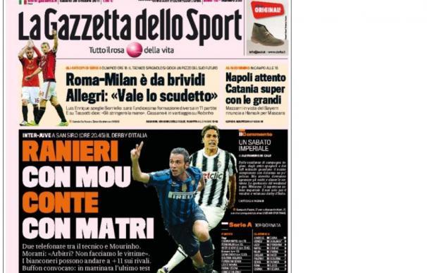 Mourinho y Ranieri, unidos por el Inter