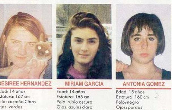 Miriam, Toñi y Desireé, las niñas de Alcásser