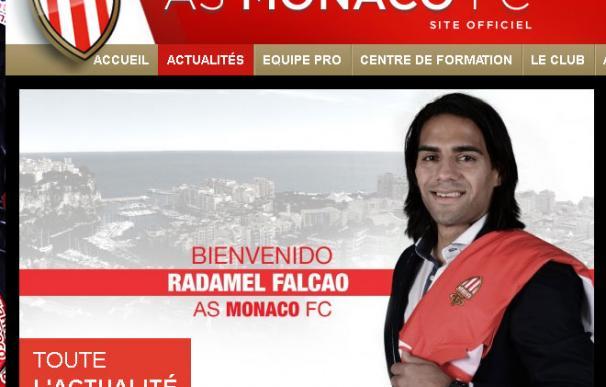 Captura de pantalla de la web del Mónaco