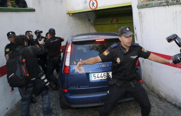 Llegada del presunto pederasta de Ciudad Lineal a los juzgados, el viernes