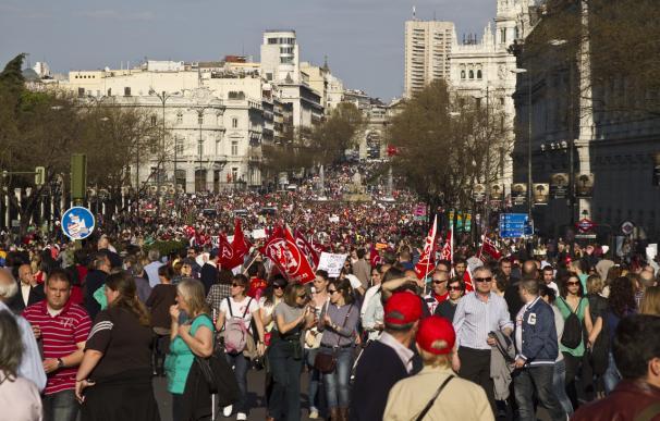 Manifestación multitudinaria en Madrid contra la reforma