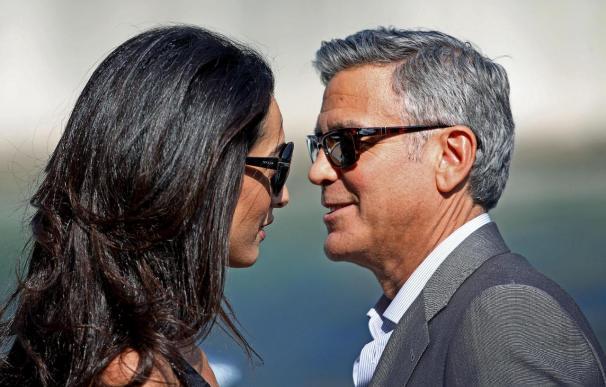 George Clooney y Amal Alamuddin, este fin de semana en Venecia, antes de su boda