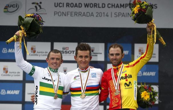 El polaco Kwiatkowski, campeón del Mundo; Gerrans plata y Valverde bronce