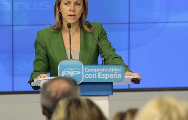 """Cospedal afirma que España """"ya es fiable"""" y que los Presupuestos apuestan por mantener servicios sociales"""