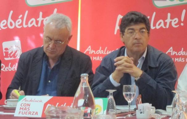 """IU quiere """"parar la ola azul"""" y """"desplazar las políticas de rojo desteñido"""" en Andalucía"""
