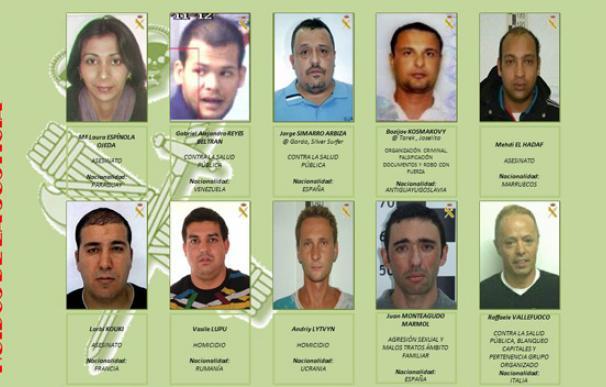 Los diez fugitivos más buscados por la Guardia Civil
