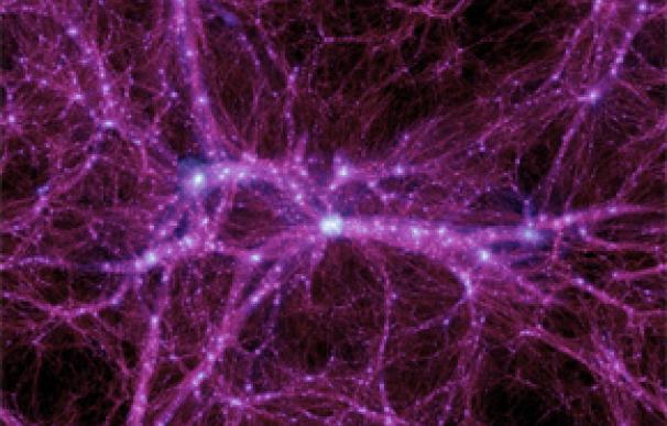 Simulación de galaxias interconectadas (Michael Boylan-Kolchin)
