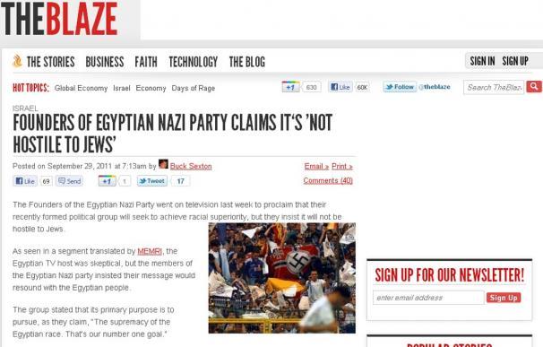Una foto de ultras del Madrid para ilustrar una noticia del partido nazi de Egipto