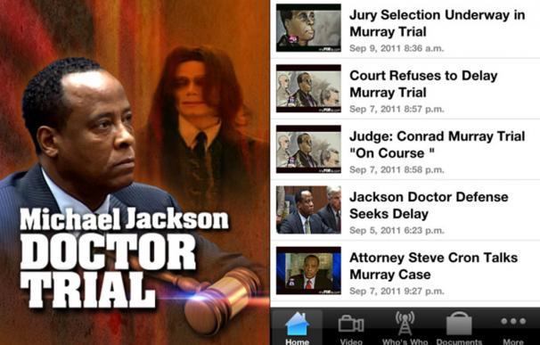 La aplicación para seguir el juicio contra el doctor de Michael Jackson, la más vendida para iPhone y iPad