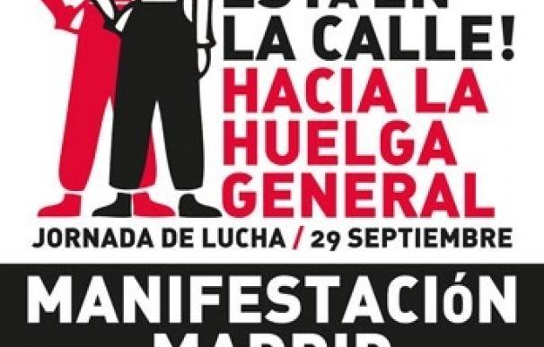 """Organizaciones sociales y sindicales alternativas marcharán hoy de Cibeles a Sol """"hacia la huelga general"""""""