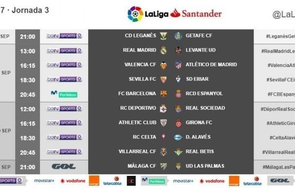 LaLiga adelanta el Leganés-Getafe de la jornada 3 al viernes y pasa el Celta-Alavés al domingo