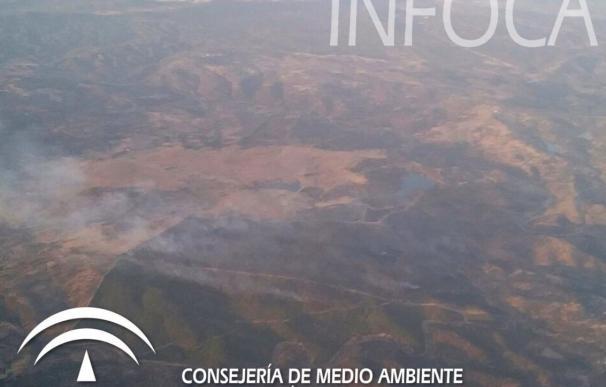 Controlado el incendio de Santa Olalla (Huelva) que calcina unas 350 hectáreas tras una primera medición