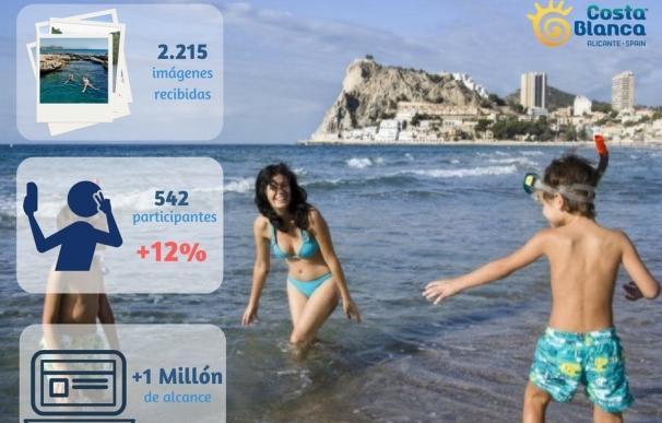 El Patronato de Turismo logra 2.215 fotos de 542 visitantes en el concurso #MiVeranoCostaBlanca