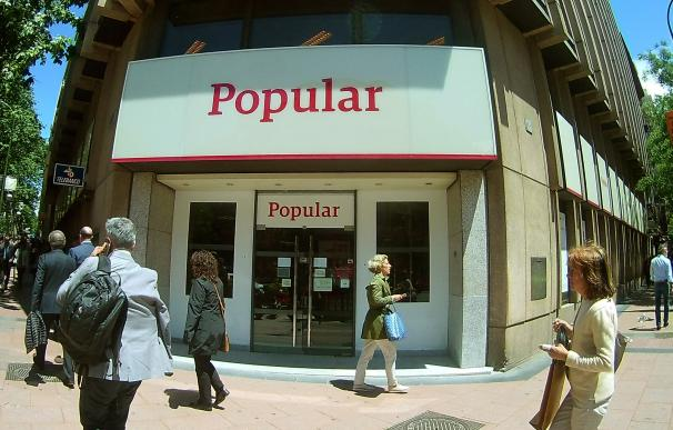 Sucursal del Banco Popular en Madrid.