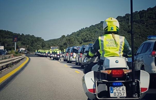 Un total de 128 guardias civiles de la UMSV y medio centenar de agentes riojanos velarán por la seguridad de La Vuelta