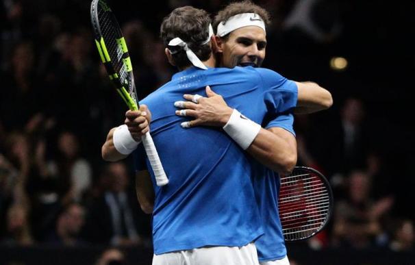 Un día para la leyenda: Nadal y Federer disfrutaron en su primer partido juntos