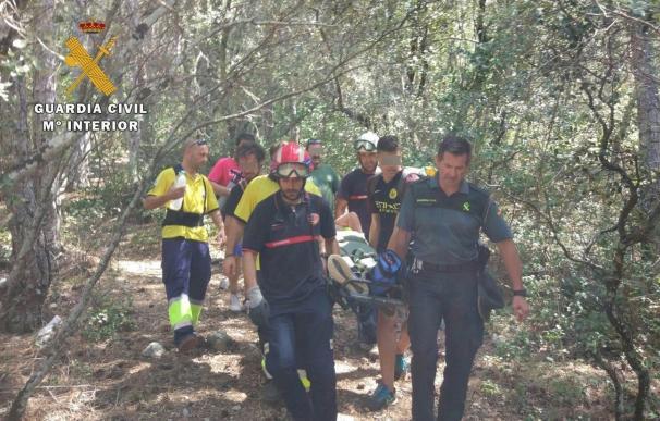 Guardia Civil rescata a un senderista accidentado en la senda que lleva al nacimiento del río Mundo en Riópar