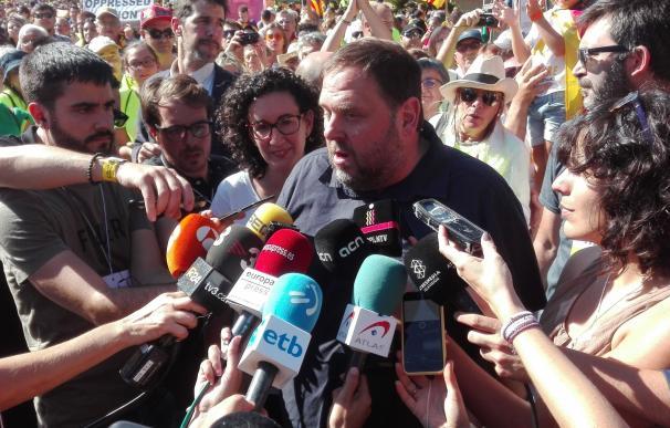"""Junqueras subraya que el 1-O habrá referéndum porque lo quiere """"la inmensa mayoría"""""""