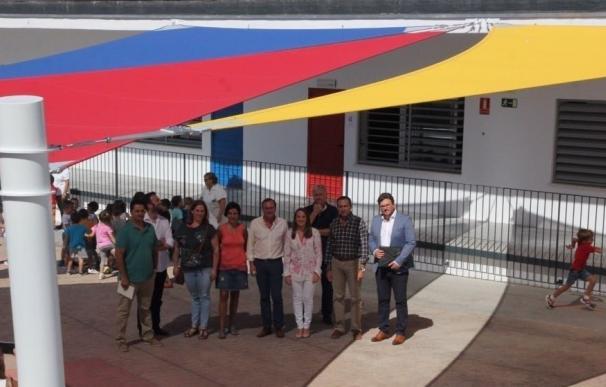 La Junta visita las obras de climatización realizadas en el CEIP Teresa Comino de Villafranca
