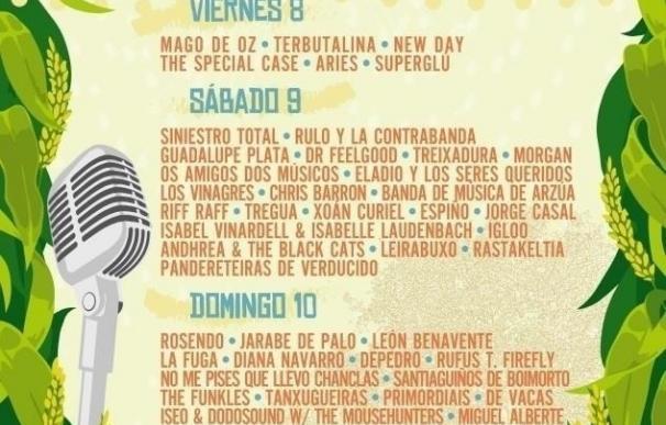 Rosendo, Mago de Oz, Rulo y La Contrabanda, Siniestro Total y Jarabe de Palo estarán en el Festival de la Luz