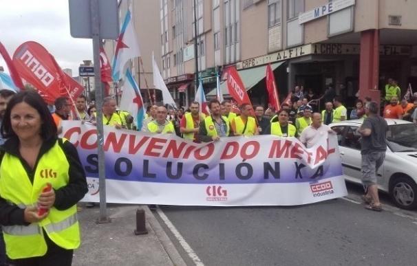 UGT y CC.OO. alcanzan un preacuerdo con la patronal para el convenio del metal de la provincia de A Coruña