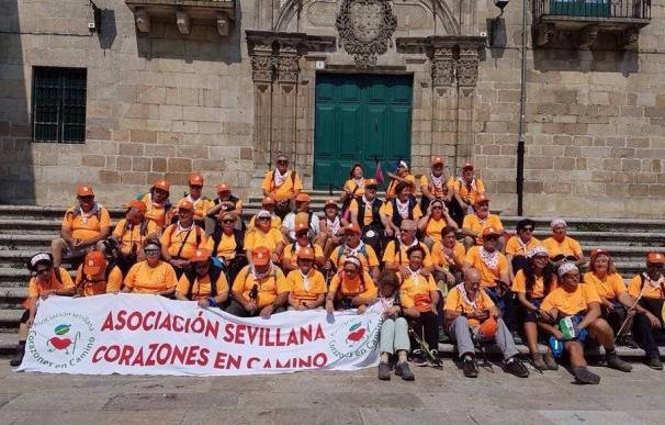 Pacientes coronarios del Valme hacen por octavo año el Camino de Santiago como actividad rehabilitadora