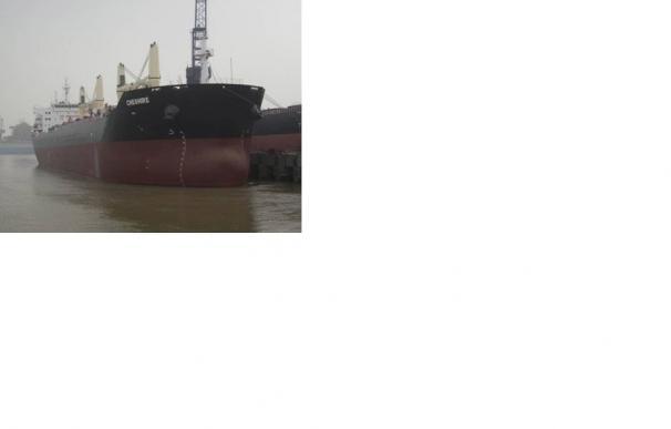 Salvamento Marítimo vigila al buque Chesire, incendiado a unos 70 millas de Gran Canaria
