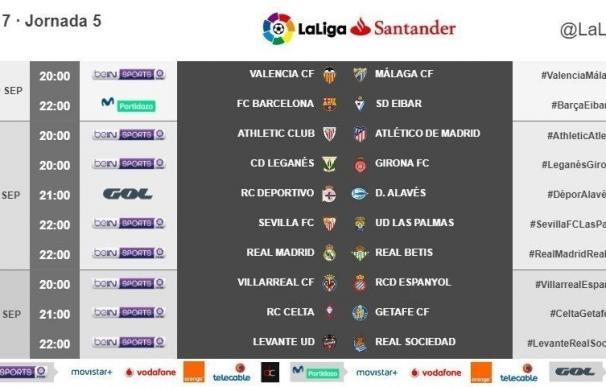 El Barça-Eibar se disputará el martes 19 y el Real Madrid-Betis, el miércoles 20