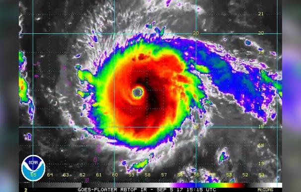 El huracán Irma es ya el más potente de 2017 y se mantendrá en categoría 5 al menos en las próximas 48 horas