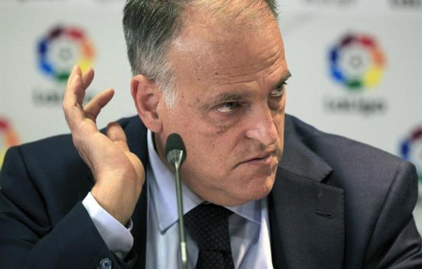 Tebas dice que el Barça no jugaría en LaLiga si se produce la independencia (EFE/Víctor Lerena)