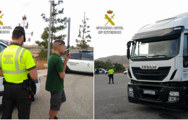 La Guardia Civil intercepta al conductor de un vehículo articulado de 40 toneladas por dar positivo en droga