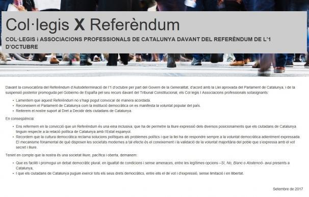"""Colegios profesionales catalanes defienden el derecho a voto """"en libertad"""""""