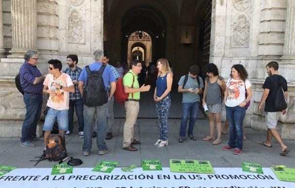 """Podemos exige a Díaz una solución """"rigurosa"""" para los interinos universitarios, cuya situación llevará al Parlamento"""