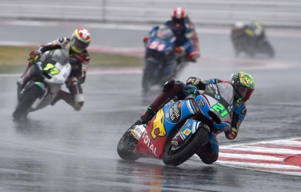 """Morbidelli: """"Era rápido en seco, pero en mojado he cometido un error"""""""