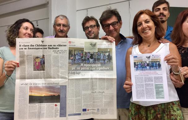 Dos asociaciones onubenses colaboran en la traducción al español de un periódico hecho por chicas refugiadas