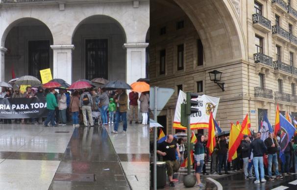 """Dos manifestaciones recorren Santander, una en favor de una 'Cantabria para todas' y otra que pide """"prioridad"""" nacional"""