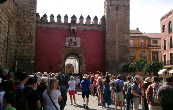 El Alcázar cosecha hasta agosto un 9,3% más de visitas que en 2016 con casi 1,2 millones de turistas